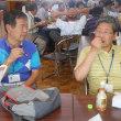県シニア大学・・・昼食と談話・・楽しくおしゃべり