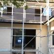 総社市久代での住宅リノベーション工事現場でサイディングボード張り