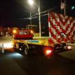 昨夜、深夜の事故でレッカー入庫しました「ハイゼットカーゴ」は自走不可