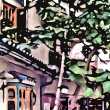 街並み Digital art