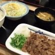 松屋 牛焼肉定食  と ミニ牛めし