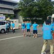 反核平和の火の県庁前でのリレーを激励