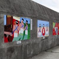 防波堤の絵画