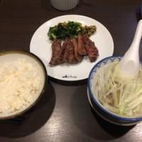 牛たん定食@仙台「牛たん炭焼き 利休」