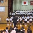 校内での音楽会リハーサル