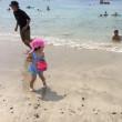 三歳、一歳と海バンガロー泊