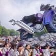 2017.09.08 上野公園 東京芸大学園祭: 巨大バイク神輿と担ぎ手達