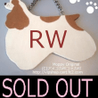 SOLD OUT THANKS コッカーシルエット型ドアプレート RW 犬雑貨