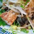 焼き鯖ののっけ盛り♪ 小松菜のくたくた煮