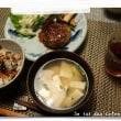 ひじきご飯&ハンバーグ