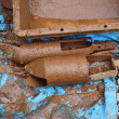 井戸さらい。地上から地下9mから1m土砂を取り除きました。博多の道路陥没と似た現象。 #井戸さらい