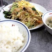 【月替定食】ひき肉と春雨 野菜のピリ辛炒め を頂きました。 at 紫金 青山店