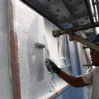 塗装工事の外壁調査で見つかった腐食した窓枠を取替ました
