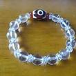 三眼天珠の水晶ブレスレット