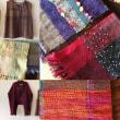 手織り作品展示中