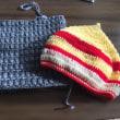 どんぐり帽子編んでみました