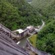 山岡道の駅と小里川(おりがわ)ダム。