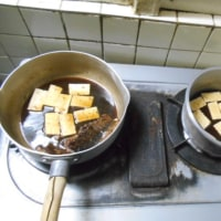 #水抜き豆腐煮〆二味