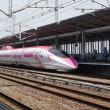 新倉敷駅で新幹線列車を撮影