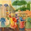 フラ・アンジェリコの絵画を水彩で、