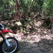 CRF250Lで真夏の林道は暑すぎ!下手な分、体が力んで汗だくになるけど、ま、いい運動です(^^;