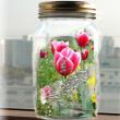 2枚の写真を合成水中に浮かぶ花