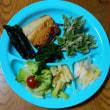 今日の朝食(5月18日)ウドの葉のテンプラ