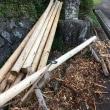 倉庫の建設(1)原木集め