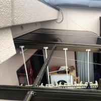 台風でサンルーム屋根が飛ぶ!