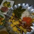 明太おにぎりの朝食とパパッと手作りの夕食♪