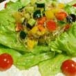 海藻麺のヘルシーサラダ・朝カフェメニュー♪