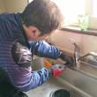 キッチン ワンホール 混合水栓 交換しました  札幌市南区常盤