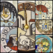 イタリアの陶器製時計「ザッカレラ」は、動物のモチーフも好評です!