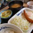 エッグ定食牛皿+納豆