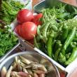 俺の朝採り野菜だてぇ。