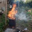 庭木の伐採止めて 焼却に