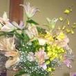 頂いた花束を  和風パスタ