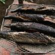 七輪で  焼いた秋刀魚の  ほろ苦さ