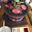 「ぶち」は七輪で炭火での焼き肉。美味しかった‼️