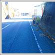 道路の除草をする人