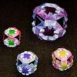 折り紙「三角で折る鶴」「花のくす玉」