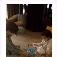 【クォン・サンウ  Family】ボードゲームしてるルキくんとリホちゃん~(*´▽`*)