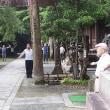 瀧安寺でのラジオ体操