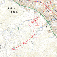 千尺峰・本町市民の森のGPSトラック