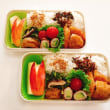 メンチカツと がんもどきと椎茸と小松菜の煮浸しの お弁当