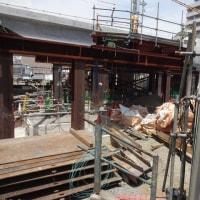 小田急線複々線化アップデート 06/2018: 旧南口改札付近、工事の状況