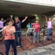 神のしもべ長崎教会の賛美チームが夏まつりでライブを行いました