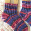 手編み靴下 作品NO.255
