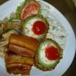 ラフテー、ゴーヤの豆腐詰めが食べられる「日替わり定食(水曜)」