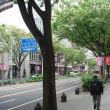散歩の風景、都会の歩道